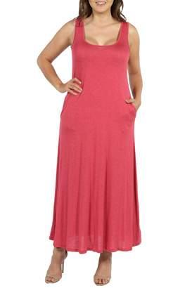 24/7 Comfort Scoop Neck Pocket Maxi Dress (Plus Size)