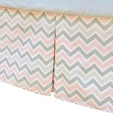 T.L.Care TL Care Pleated Zig Zag Crib Skirt