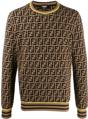 Fendi FF logo knitted jumper