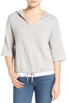 Caslon Textured Pullover Hoodie (Petite)