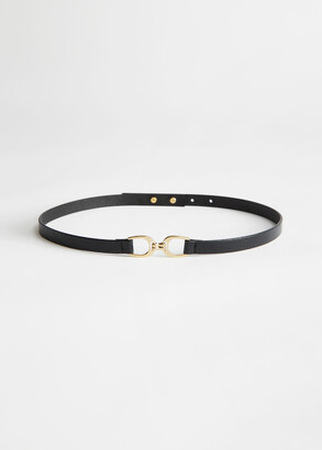 And other stories Snake Embossed Leather Belt