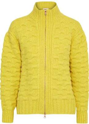 See by Chloe Cloque-knit Alpaca-blend Turtleneck Cardigan