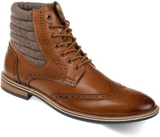 Thomas & Vine Apollo Tall Wing Tip Lace Up Boot