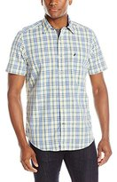 Nautica Men's Mar Plaid Short-Sleeve Shirt