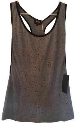 Koral Grey Cotton Top for Women