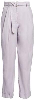 Dries Van Noten Belted Cotton Pants