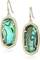 Kendra Scott Signature Dani Drop Earrings in Gold Plated Abalone Shell