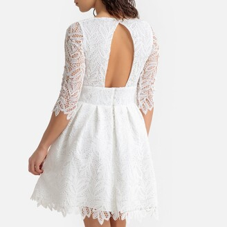 La Redoute Collections Guipure Lace Cocktail Dress