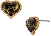 Leopard Heart Stud Earrings