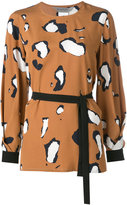 Sportmax printed long sleeve blouse