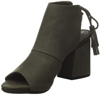 Kenneth Cole Reaction Women's Reach the Stars Peep Toe Flared Heel Lacing-Nubuck Ankle Bootie