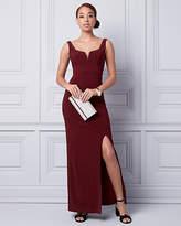 Le Château Knit Deep V-Neck Gown
