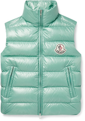 MONCLER GENIUS Awake NY 2 Moncler 1952 Parker Printed Quilted Nylon Down Gilet - Men - Green