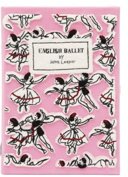 Olympia Le-Tan English Ballet Embroidered Book Clutch - Pink Multi