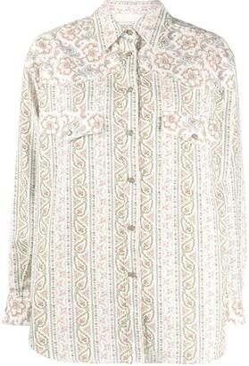 Etro Floral Paisley Print Twill Shirt