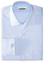 Van Heusen Men's Flex Regular Fit Mini Check Spread Collar Dress Shirt