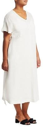 Marina Rinaldi, Plus Size Dedicare Linen Dress