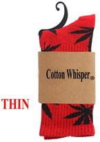 Cotton Whisper Unisex Plantlife Crew Sock Thin Cotton Socks-Novelty Collection