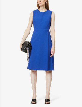 Max Mara Giara flared crepe midi dress