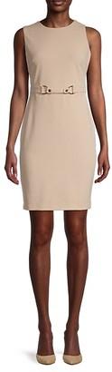 Tommy Hilfiger Belted Knit Sheath Dress