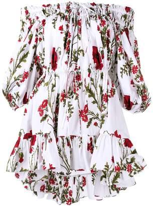 Alexander McQueen bardot floral top