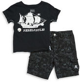 Amy Coe Baby Boys Pirate Tee and Cargo Shorts Set