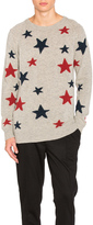 Scotch & Soda Star Pattern Crewneck Sweater