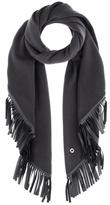 Loro Piana Semicircle cashmere and leather scarf