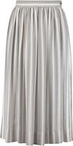 Temperley London Mitka striped silk-satin skirt