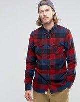 Vans Box Flannel Check Shirt In Red V00jogked