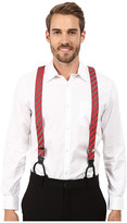 Stacy Adams Gingham Striped Button On Suspenders