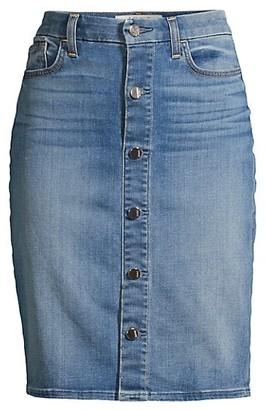 JEN7 by 7 For All Mankind Sculpting Button Front Pencil Skirt