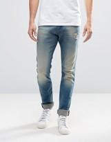 Diesel Tepphar Skinny Jeans 854v Mid Vintage Distressed Wash