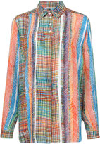 Marco De Vincenzo crosshatch print shirt - women - Silk - 44