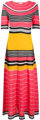 Lanvin Striped Knitted Long Dress