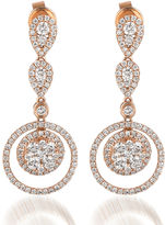 LEVIAN CORP Le Vian Grand Sample Sale 1 3/8 CT. T.W. Vanilla Diamond 14K Strawberry Gold Earrings