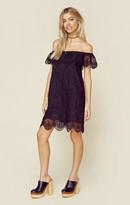 Nightcap Clothing seashell lace off shoulder dress