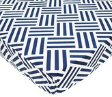 T.L.Care TL Care 100% Cotton Percale Fitted Crib Sheet Navy Parquet