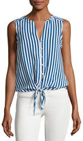 Joie Tyson Sleeveless Tie-Hem Top