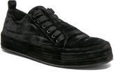Ann Demeulemeester Velvet Sneakers in Black.