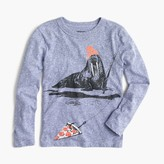 J.Crew Boys' long-sleeve walrus fishing T-shirt