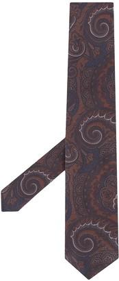Lardini Paisley-Print Pointed Tie