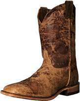 "Justin Boots Men's U.S.A. Bent Rail Collection 11"" Boot Wide Square Double Stitch Toe Leather Outsole"