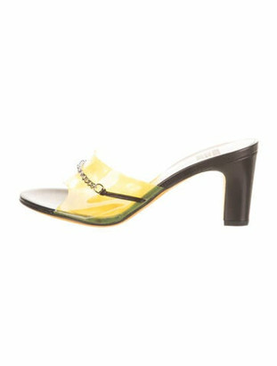 Maryam Nassir Zadeh Paloma Chain-Link Accents Slides Yellow