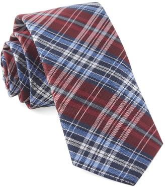 Tie Bar Motley Plaid Red Tie