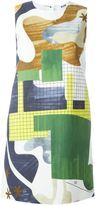 MSGM abstract print mini dress - women - Cotton/Linen/Flax - 46