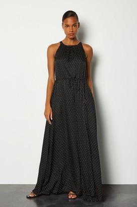 Karen Millen Printed Spot Maxi Dress