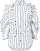 Toga striped ruffle blouse - women - Cotton - 36