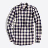 J.Crew Factory Gingham homespun shirt in perfect fit