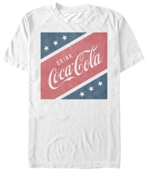 Coca Cola Coca-Cola Men's Stars And Stripes Square Short Sleeve T-Shirt